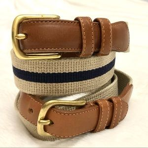 Coach Linen and Leather Belt Bundle of two Size 32